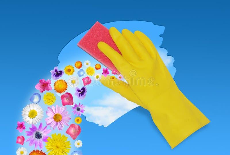 De lente het schoonmaken