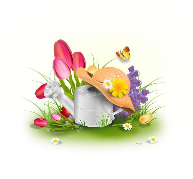 De lente is hier! vector illustratie