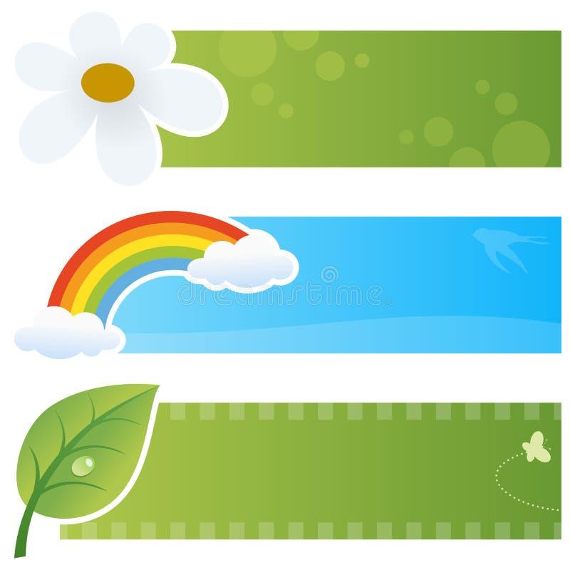 De lente Horizontale Banners royalty-vrije illustratie