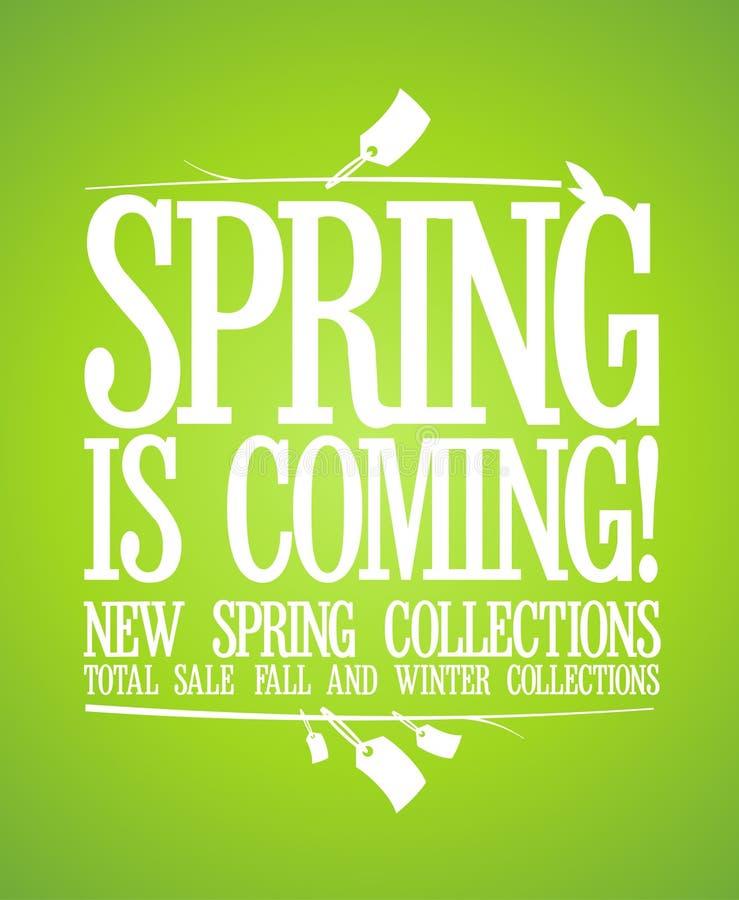 De lente is komend ontwerp. vector illustratie