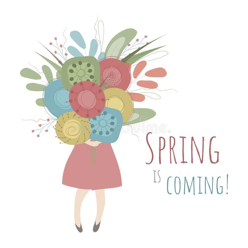 De lente komt! royalty-vrije illustratie
