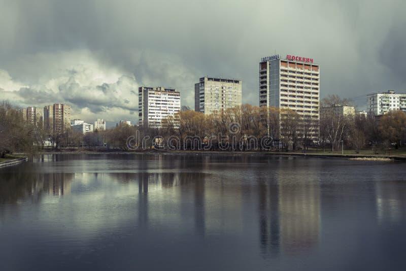 De lente in Moskou, Rusland stock foto