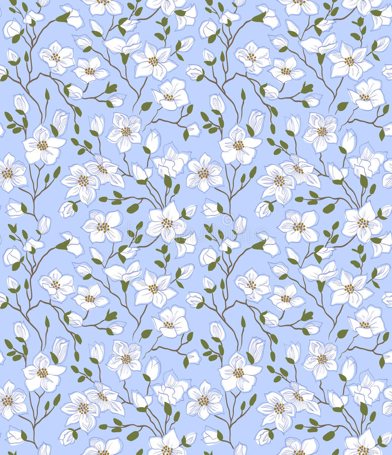 De lente naadloos patroon vector illustratie