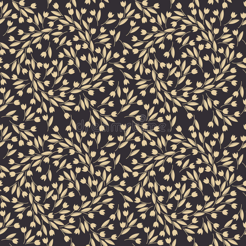 De lente naadloos patroon met decoratieve tulpen royalty-vrije illustratie