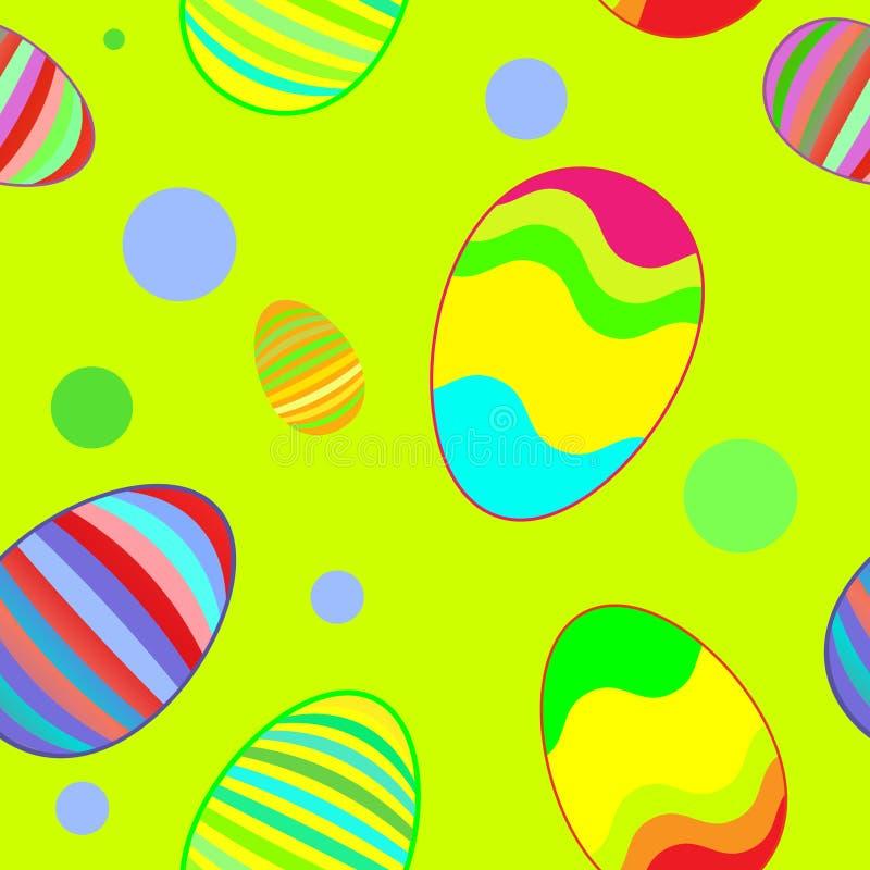 De lente naadloos patroon van Pasen stock illustratie