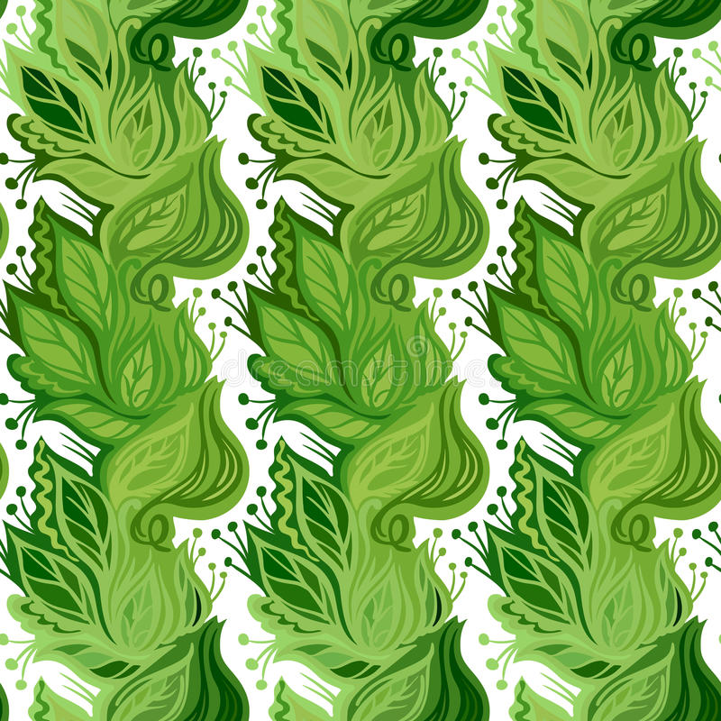 De lente verlaat naadloos patroon vector illustratie