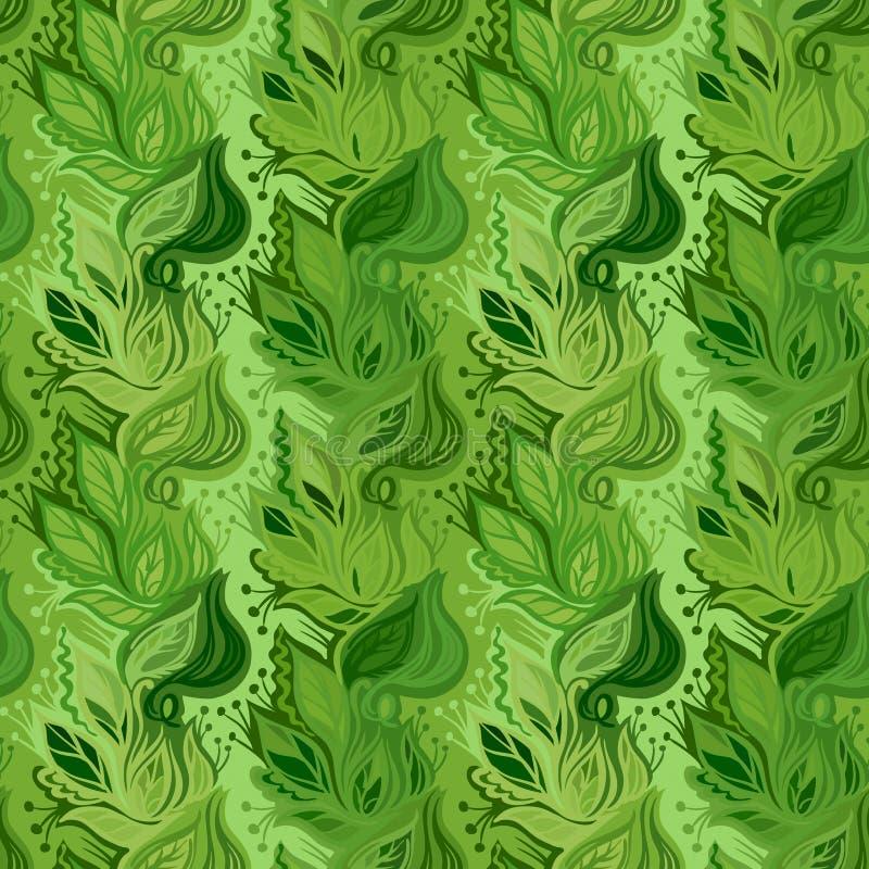 De lente verlaat naadloos patroon stock illustratie