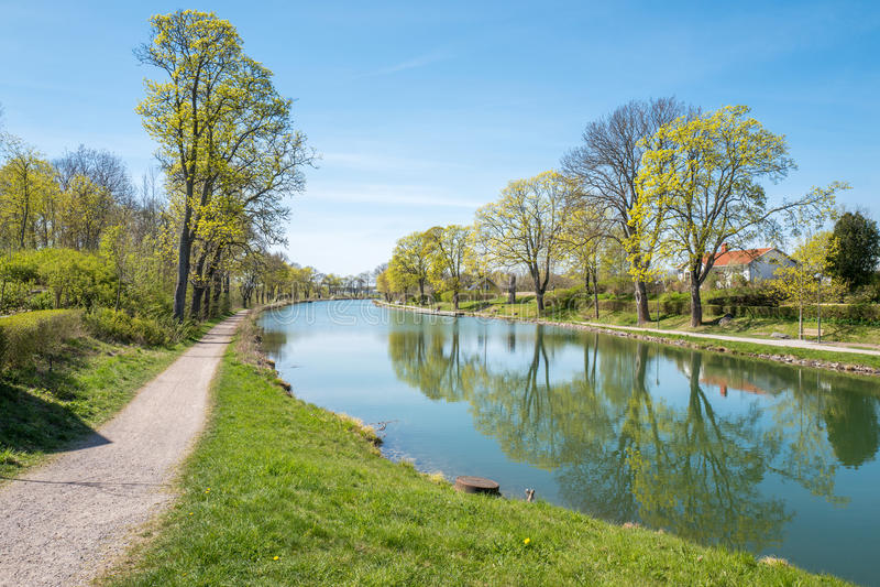De lente in Zweden stock foto's