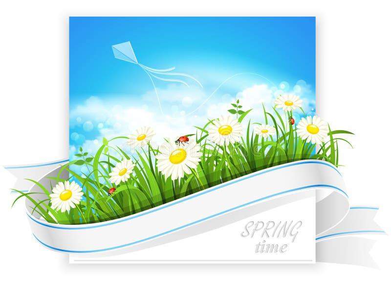 De lentebanner stock illustratie