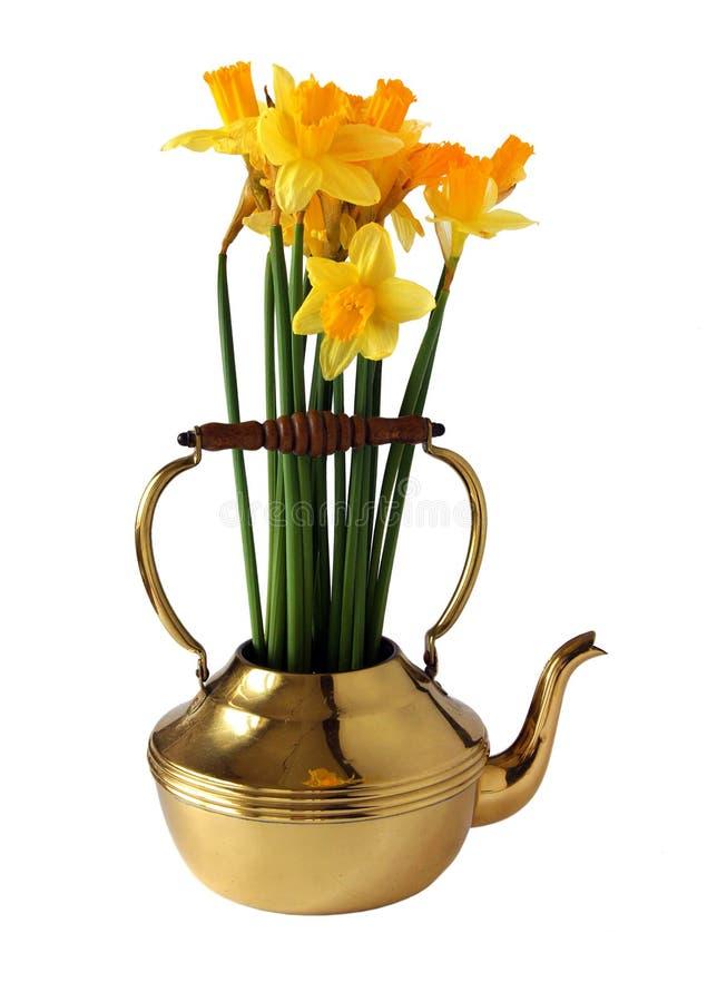De lenteboeket met gele narcissen stock afbeeldingen