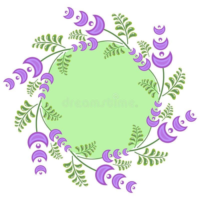 Download De Lentekroon Met Lichtpaarse Bloemen Vector Illustratie - Illustratie bestaande uit vers, bloesem: 39106526