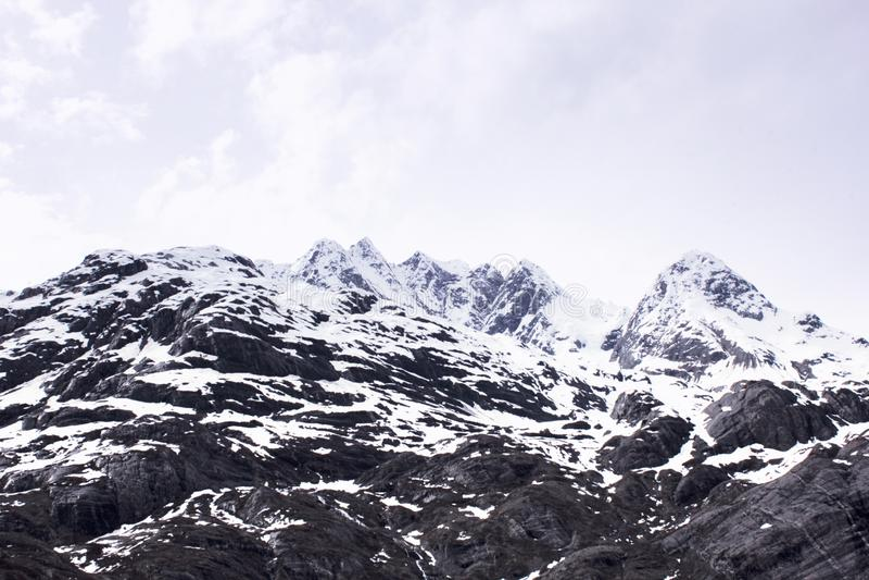 De Lentelandschap van Alaska van de sneeuwberg royalty-vrije stock afbeeldingen
