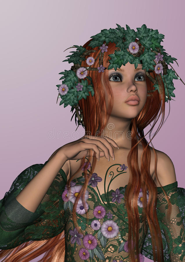 De lentemeisje royalty-vrije illustratie