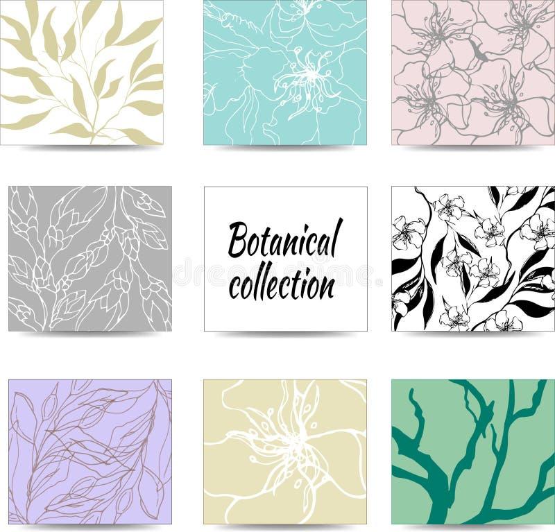 De lentereeks bloemenpatronen, ornamenten voor stickers, verfraaiend kaarten en groeten vector illustratie