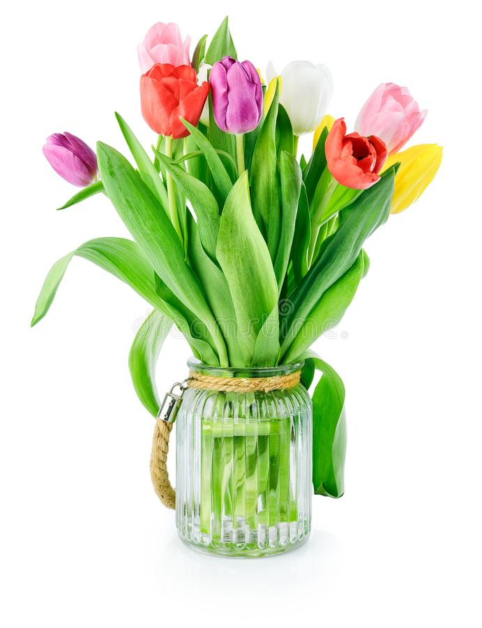 De de lentetulpen bloeit boeket royalty-vrije stock foto