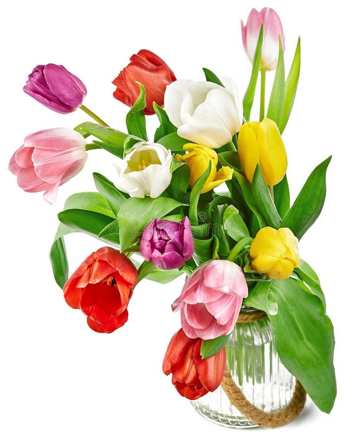 De de lentetulpen bloeit boeket royalty-vrije stock fotografie