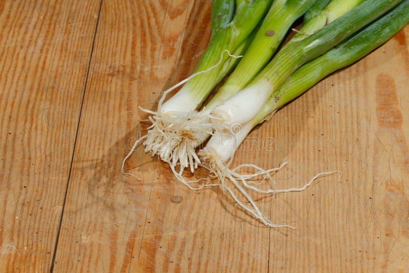 De lenteuien, uien, groenten royalty-vrije stock fotografie
