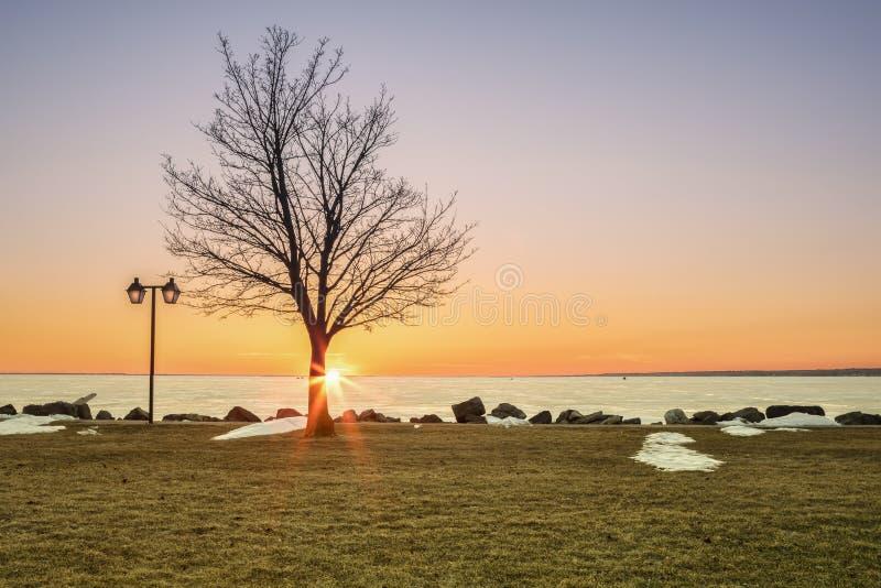 De lenteweergeven van Sylvan Beach stock foto