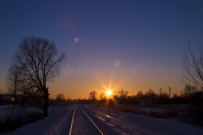 De lentezonsondergang royalty-vrije stock afbeelding