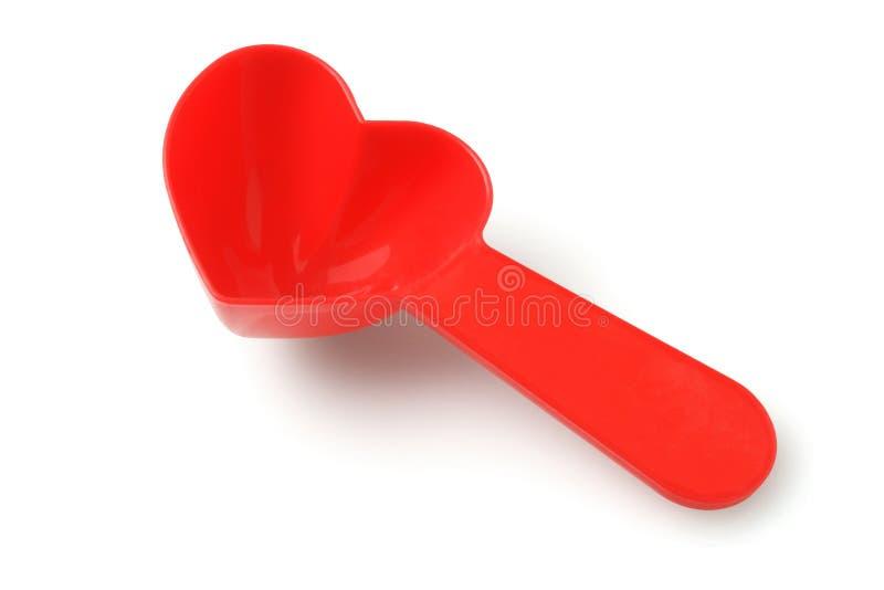 De Lepel van het de Melkpoeder van de hartvorm stock afbeeldingen