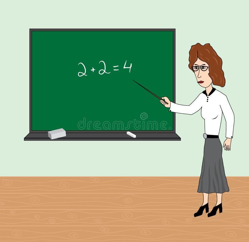 De leraar royalty-vrije illustratie