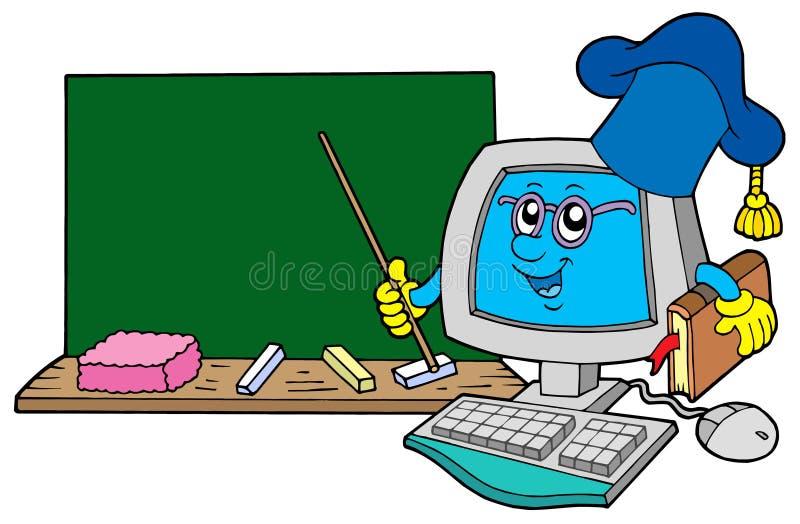 De leraar van de computer met bord royalty-vrije illustratie
