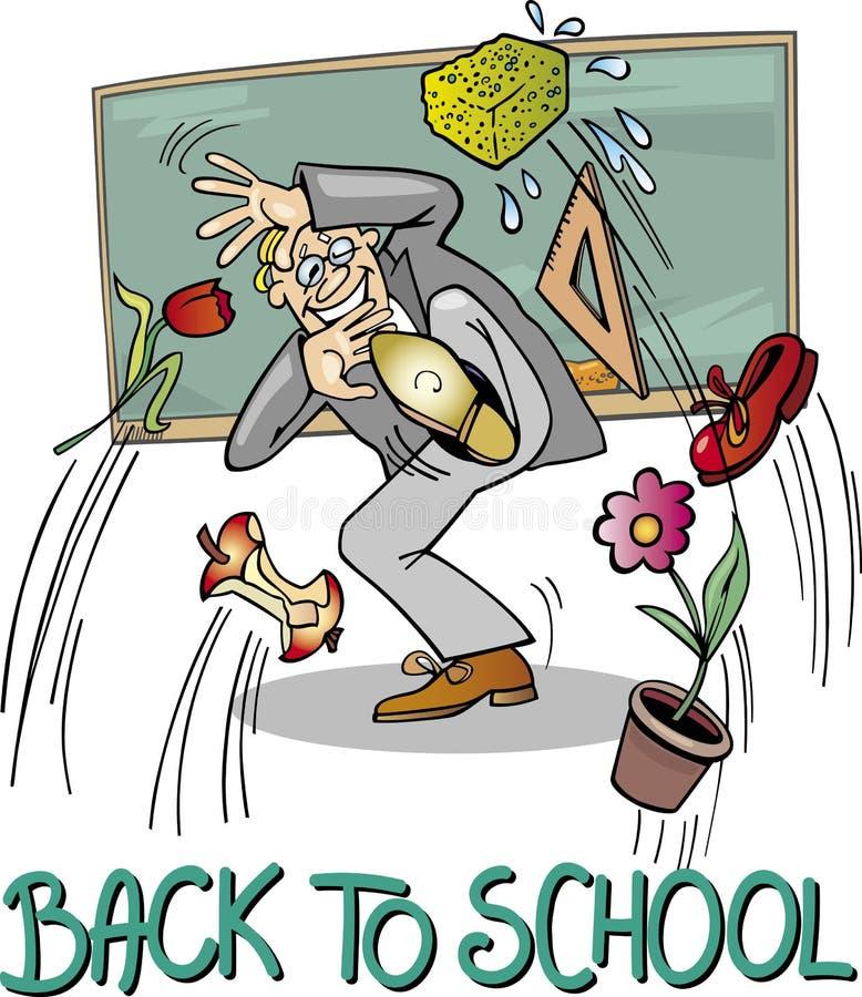 De Leraar van de school bij Bord stock illustratie