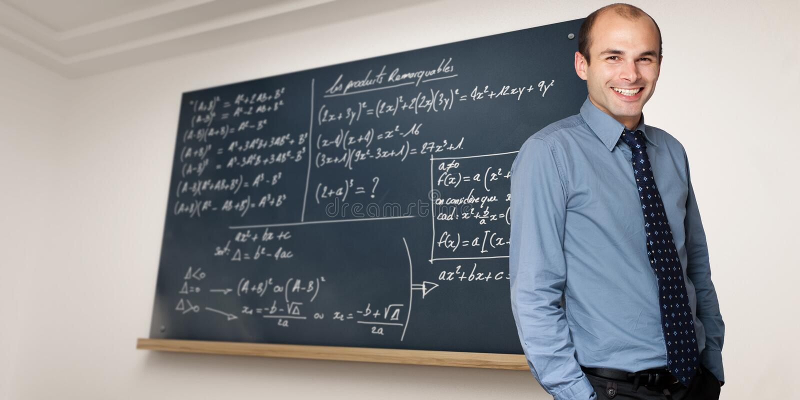 De leraar van wiskunde royalty-vrije stock foto