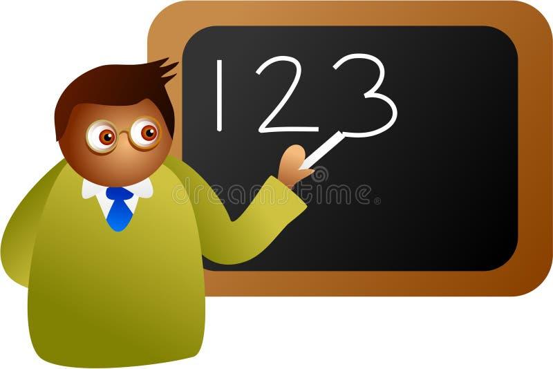 De leraar van wiskunde stock illustratie