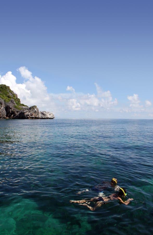 De Leren riem die van ANG - Thailand snorkelt stock foto