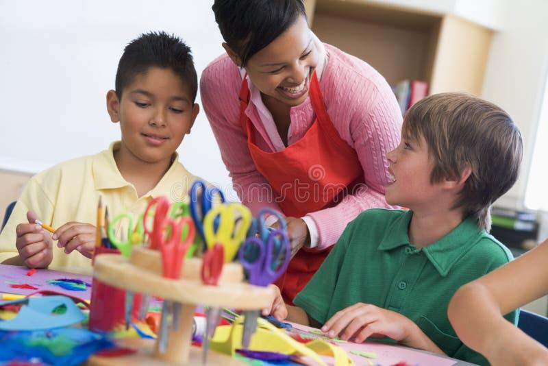 De les van de basisschoolkunst stock foto