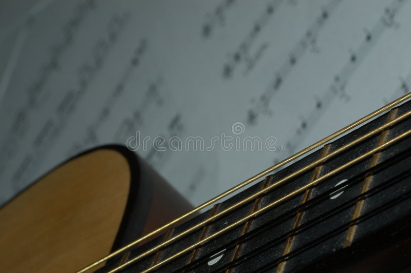 De les van de gitaar stock afbeeldingen
