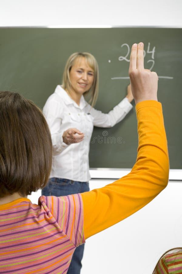 De les van wiskunde stock foto's
