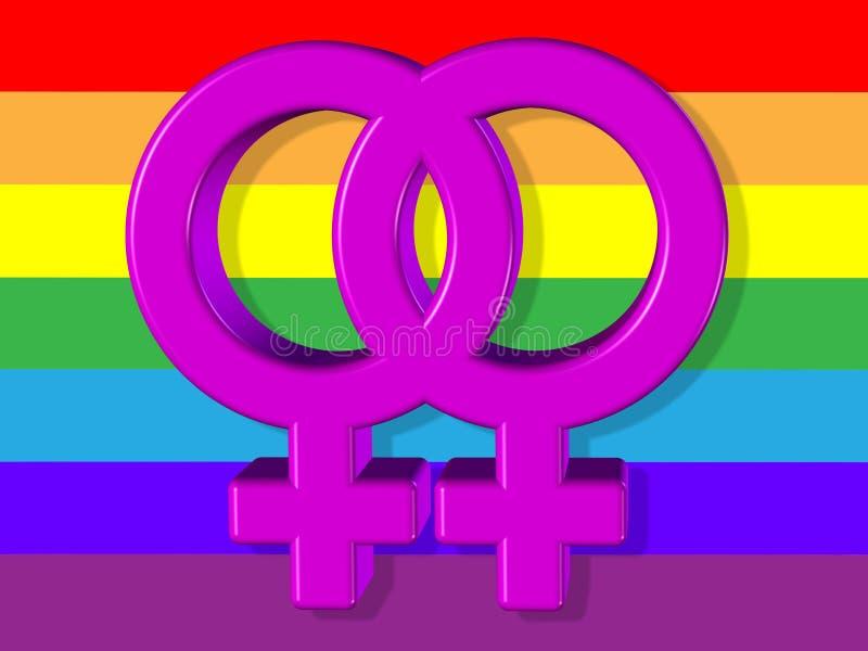 De lesbische Illustratie van de Symbolenvoorraad vector illustratie