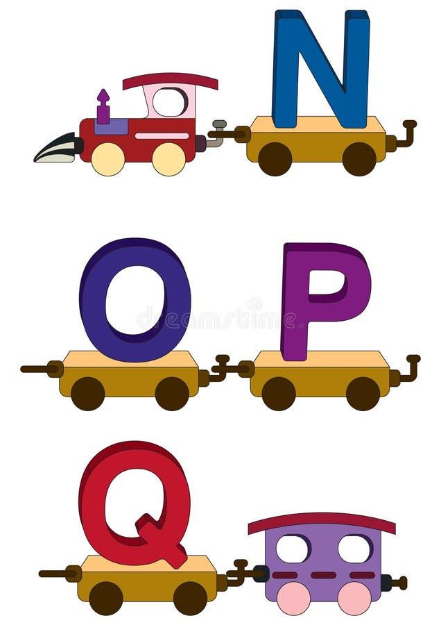 De letters en de getallen van de trein stock illustratie