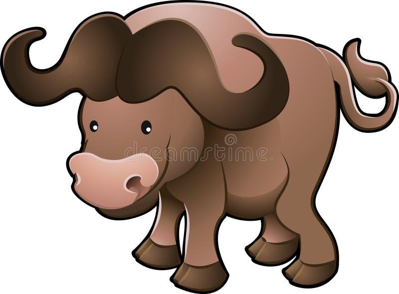 De leuke Afrikaanse Vector van de Buffels van de Kaap stock illustratie