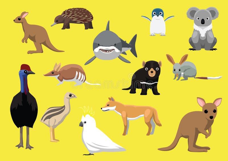 De leuke Australische Vectorillustratie van het Dierenbeeldverhaal