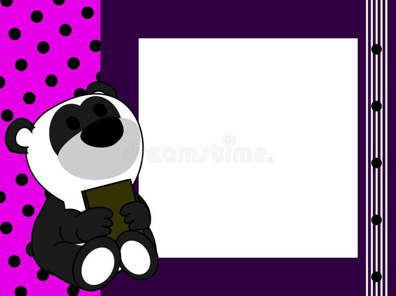 De leuke babypanda draagt de achtergrond van de boekomlijsting royalty-vrije illustratie