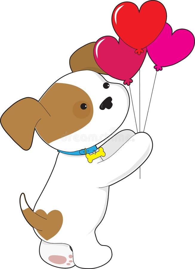 De leuke Ballons van het Puppy stock illustratie