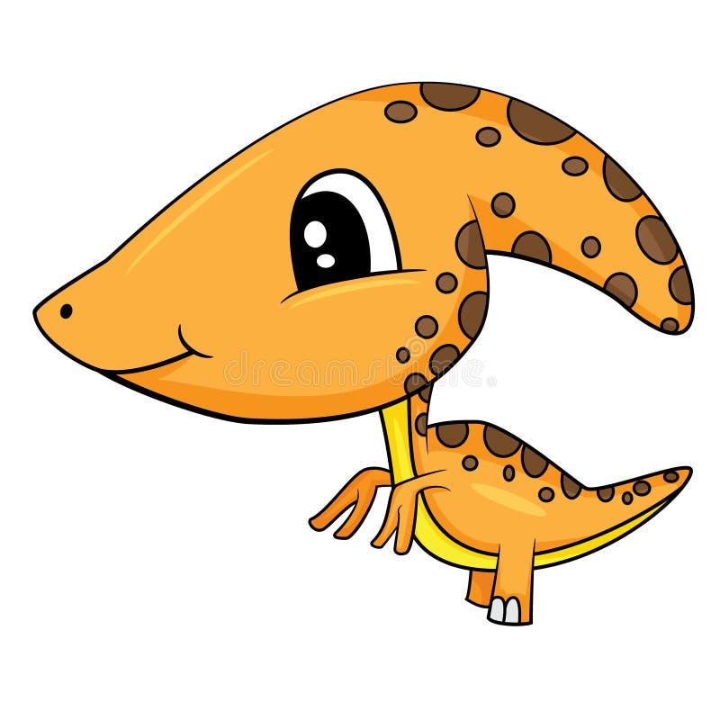 De leuke Dinosaurus van Parasaurolophus van de Beeldverhaalbaby royalty-vrije illustratie