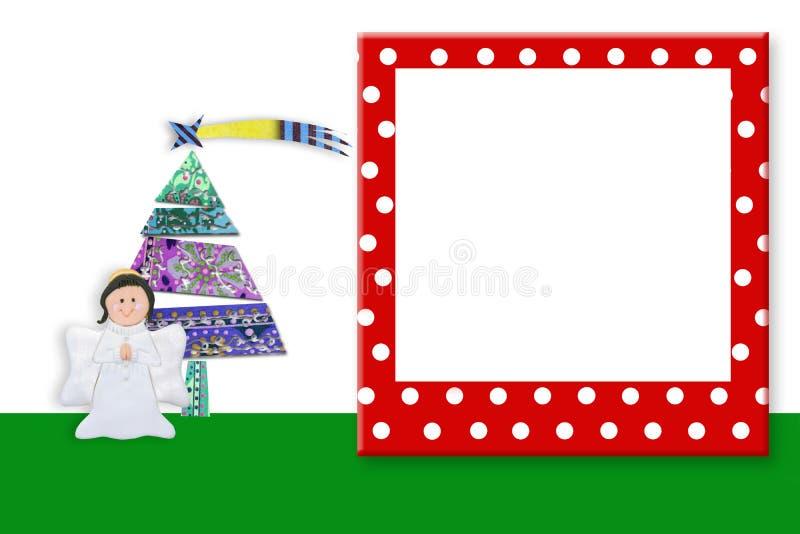 De Leuke Engel van het Kerstmiskader Copyspace royalty-vrije stock fotografie
