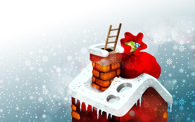 De leuke Illustratie van de Scène van Kerstmis royalty-vrije illustratie