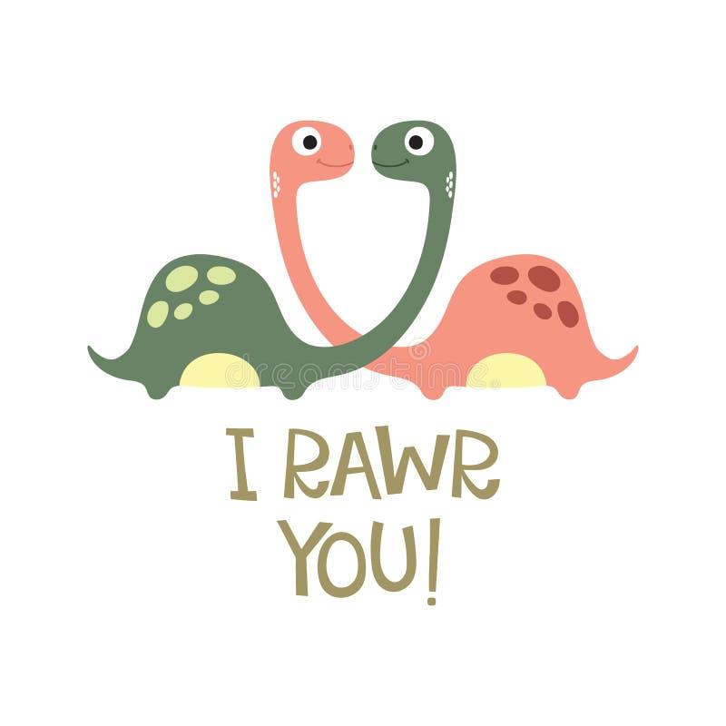 De leuke illustratie van Dino stock illustratie