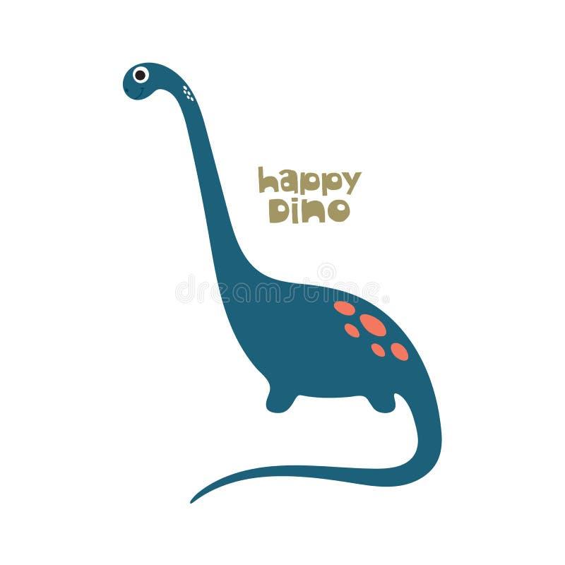 De leuke illustratie van Dino vector illustratie