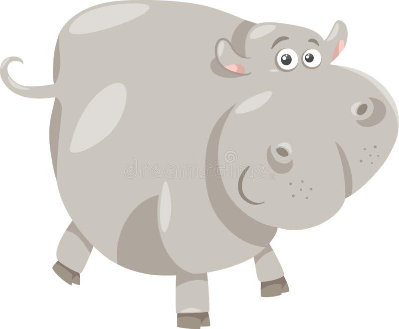 De leuke illustratie van het nijlpaardbeeldverhaal royalty-vrije illustratie