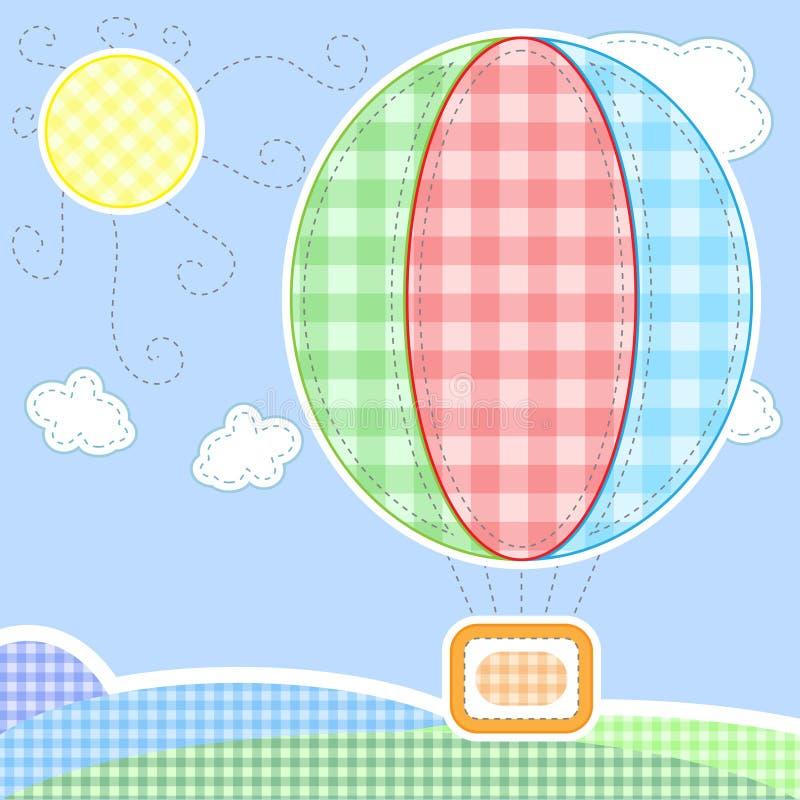 De leuke kaart van de babygroet vector illustratie