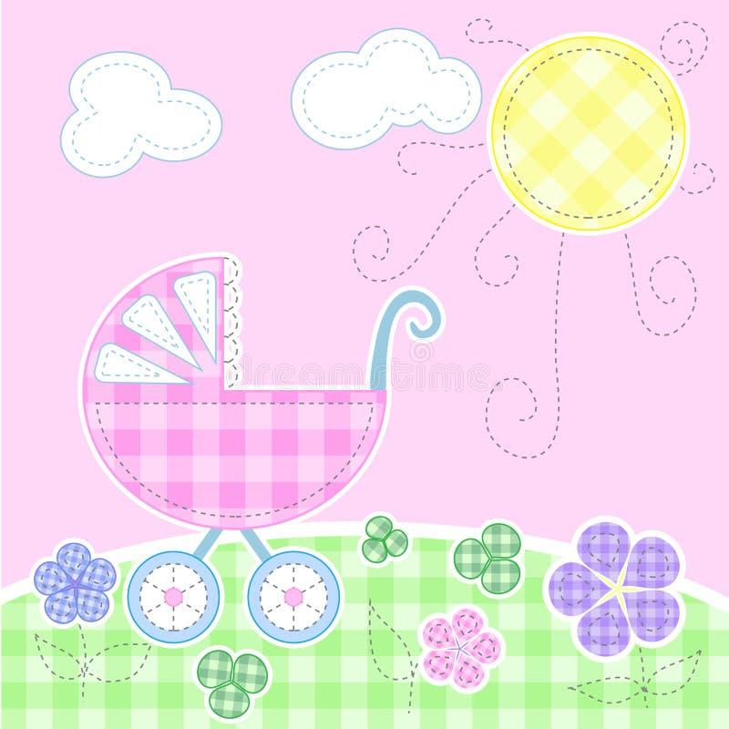 De leuke kaart van de babygroet stock illustratie