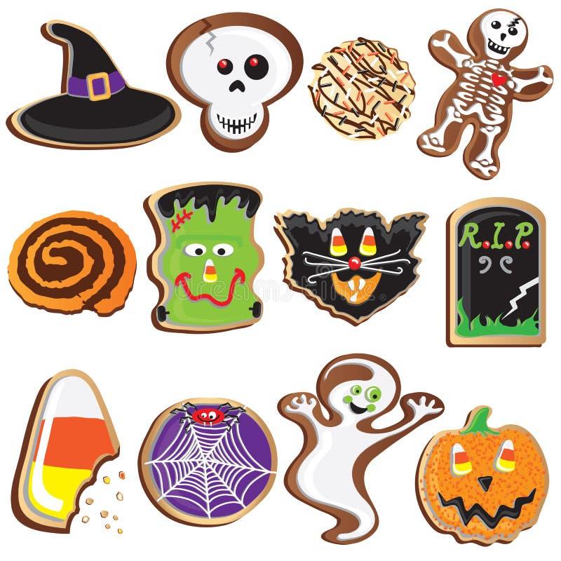 De leuke Koekjes Clipart van Halloween vector illustratie