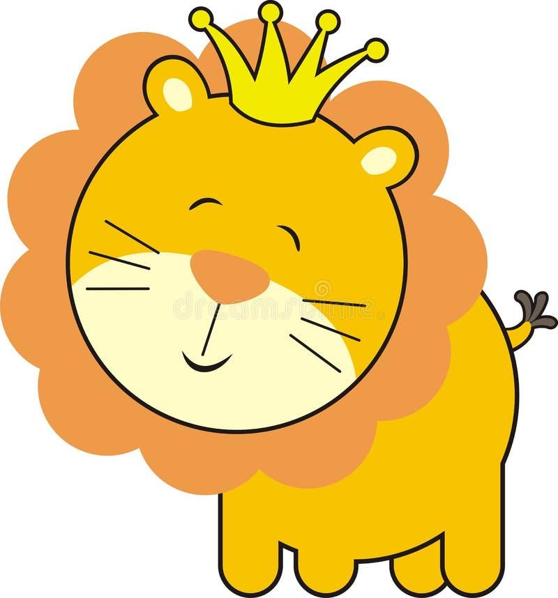 De leuke koning van de babyleeuw stock illustratie