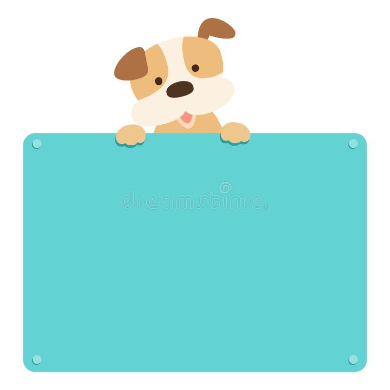 De leuke lege raad van de puppygreep stock illustratie